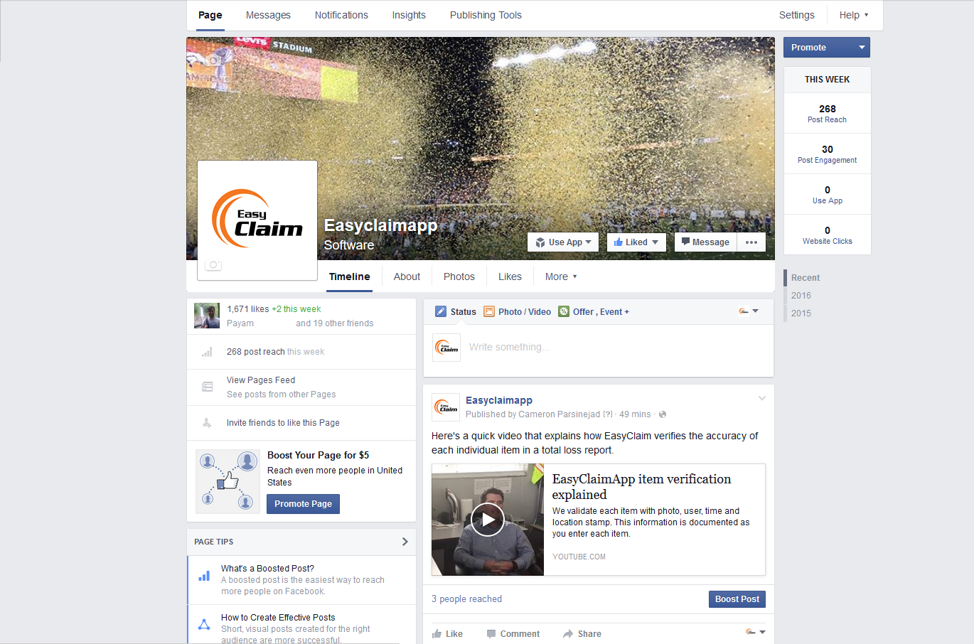 easyclaim app facebook screenshot